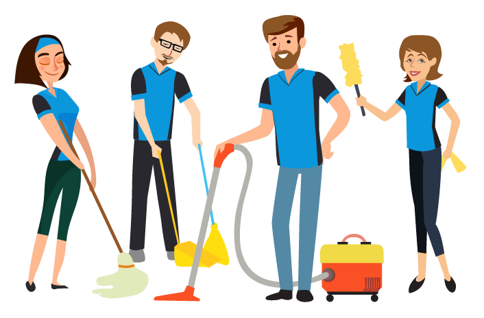 home and office cleaning company crew